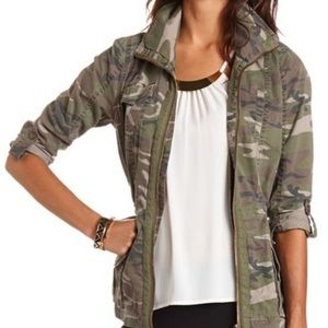 Charlotte Russe camo anorak jacket size Med